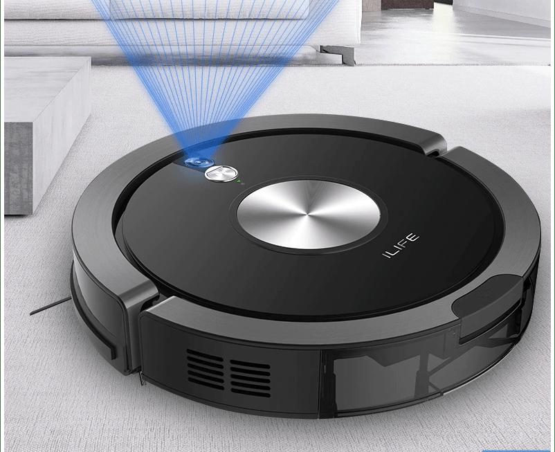 Robot hút bụi ilife X800 đèn xanh bấm không chạy hướng xử lý tại nhà được hay không ?