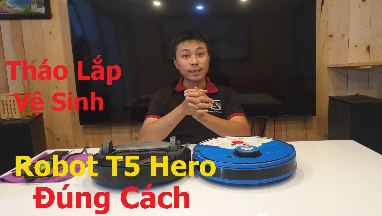 Hướng dẫn tháo robot hút bụi deebot T5 Hero vệ sinh đúng cách