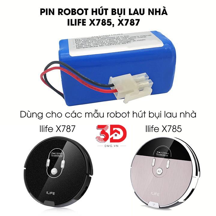 Pin Robot Hút Bụi iLife X787 - X785 Linh Kiện