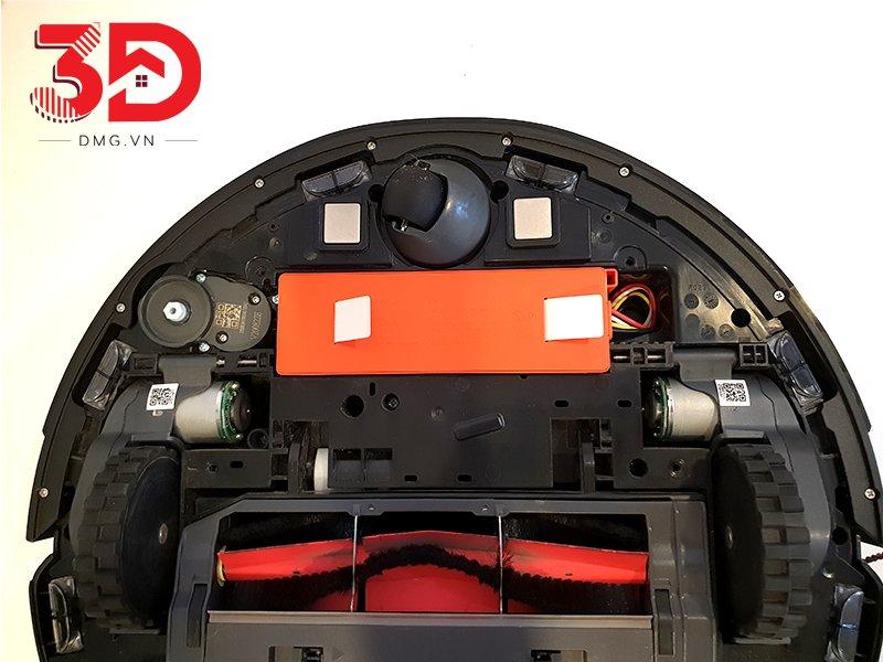 tháo nắp chứa pin robot hút bụi Xiaomi S6 max